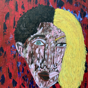 """Humanity"" By Ruby Bell, Mixed Media on Canvas"
