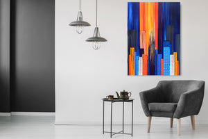 """Electroscape 4"" Susie Hall Acrylics on gallery-wrapped canvas with the edges painted black"