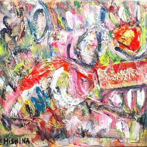 Wrath by Elena Mishina, Mixed Media on Canvas