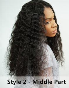 Curly Wigs  Lace front wig-Bob018