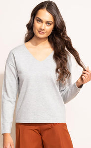 PINK MARTINI | The Brielle Top - Grey - SW-2165