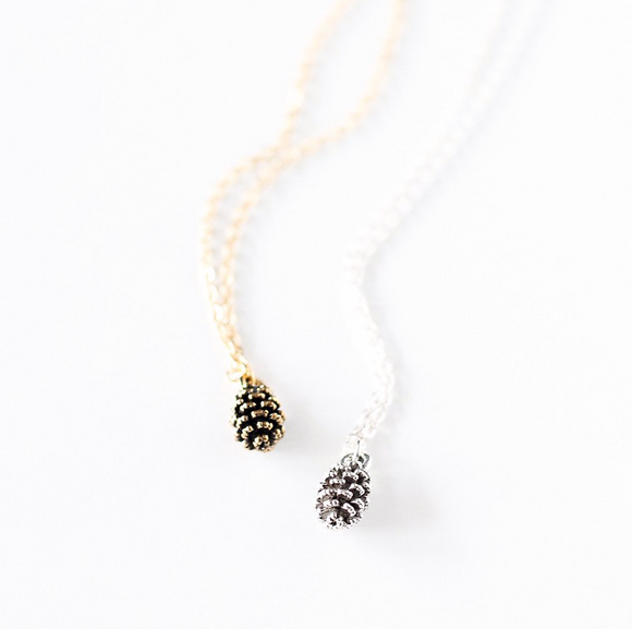 Birch Jewellery Tiny Pine Cone Necklace