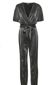 Soaked in Luxury SL Rylee Jumpsuit Gun Metal