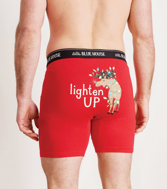 Little Blue House Men's Boxer Briefs Lighten Up
