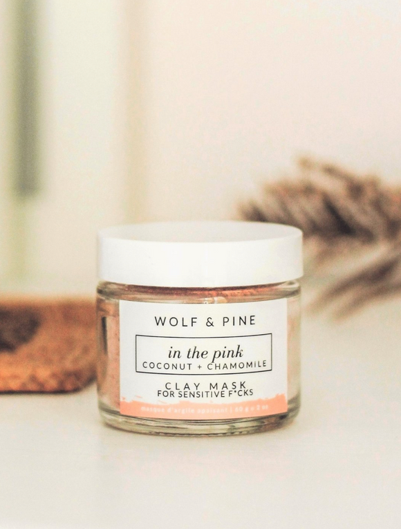 Wolf & Pine - Clay Mask -  In the Pink