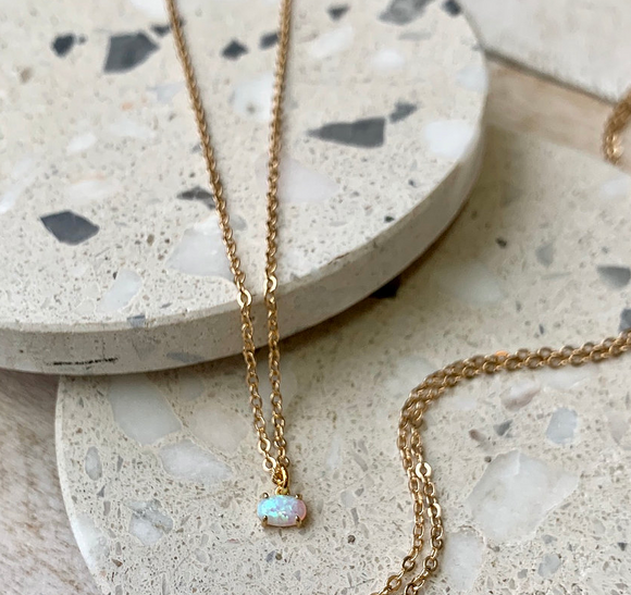 FRUG |  Simple Opal Necklace | FNA01