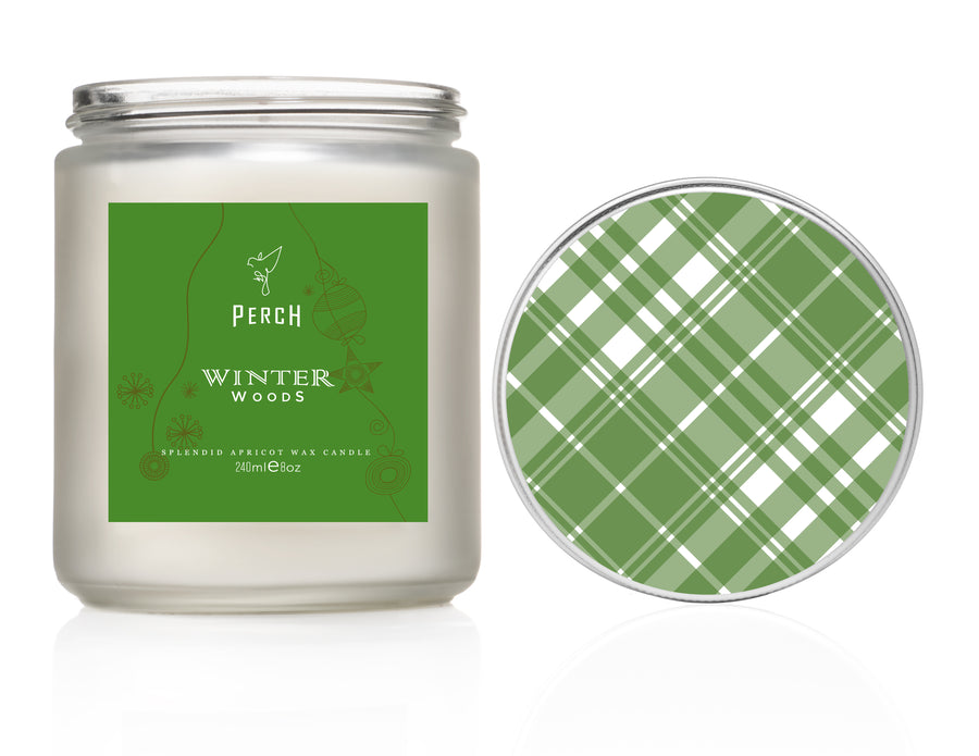 Winter Woods Frosted Classic Candle