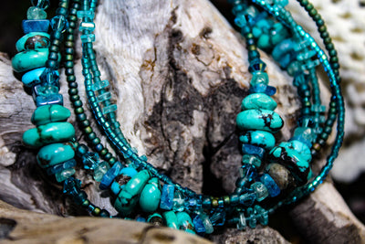 Turquoise & Apatite - Mark of the Raven