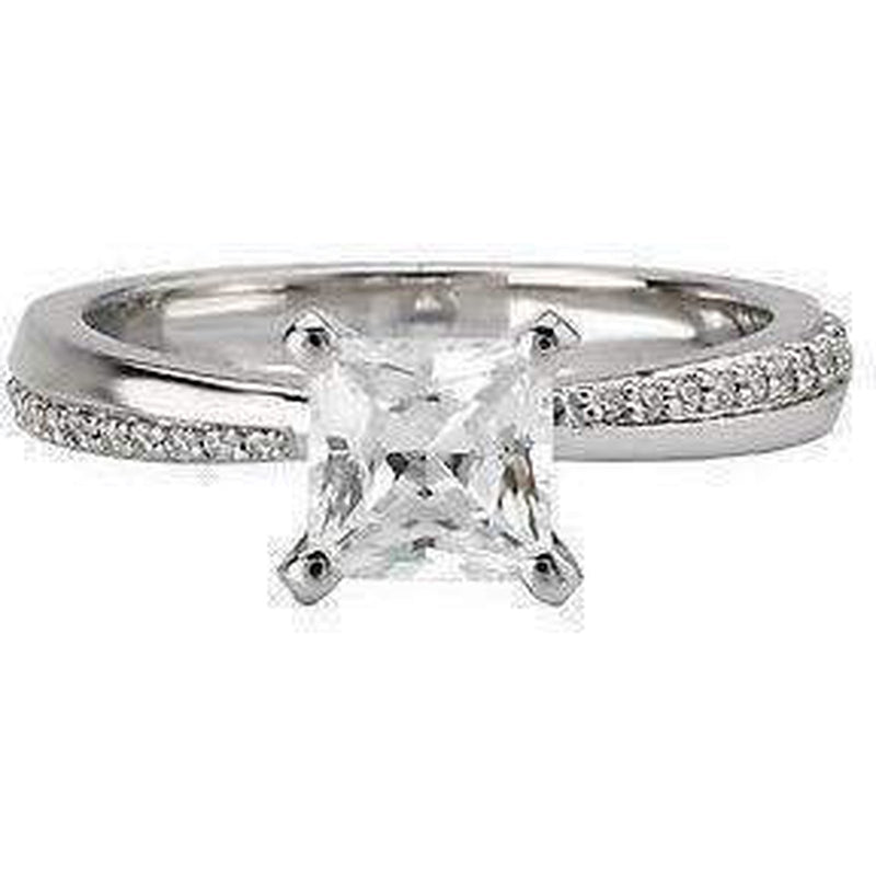 Mirror Image Diamond Engagement Ring