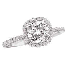 Romance Cushion Style Halo Semi-Mount Diamond Ring