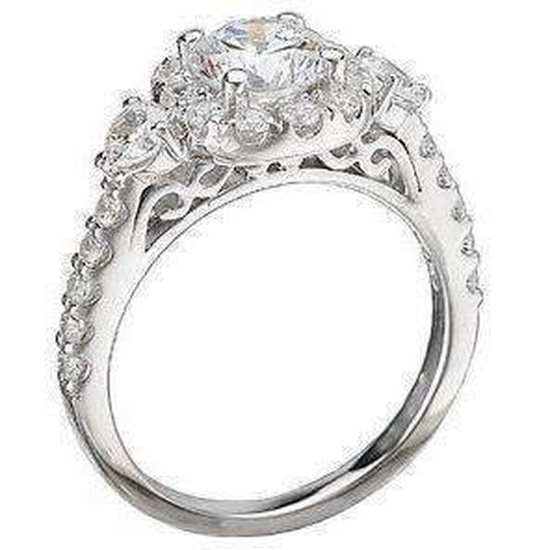 Halo Diamond Engagement Ring Semi Mount