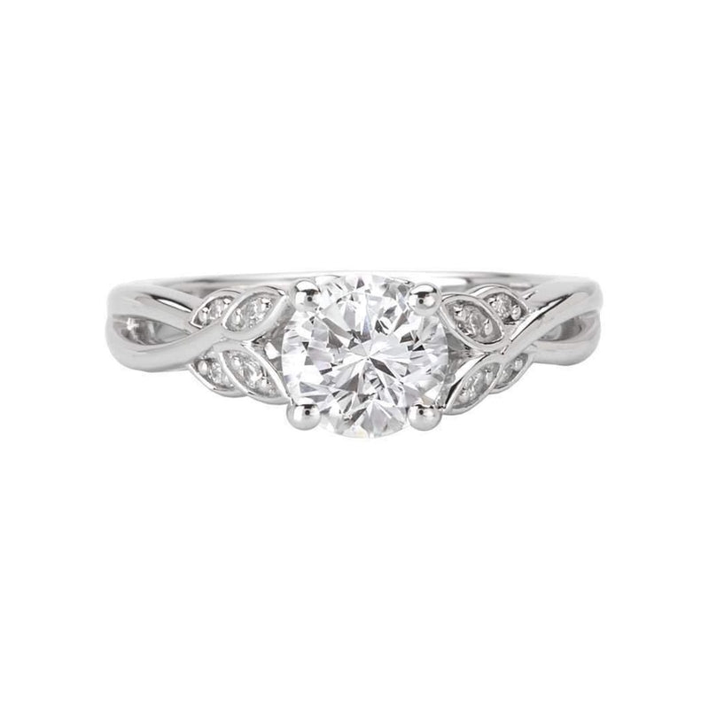 Floral Twist Diamond Engagement Ring Semi Mount