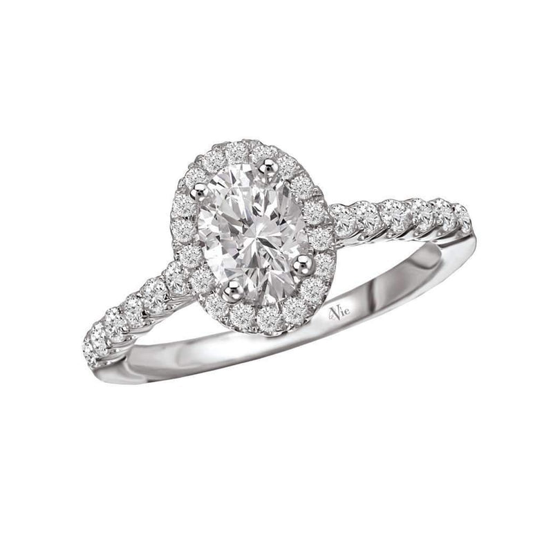 Oval Halo Diamond Engagement Ring Semi Mount