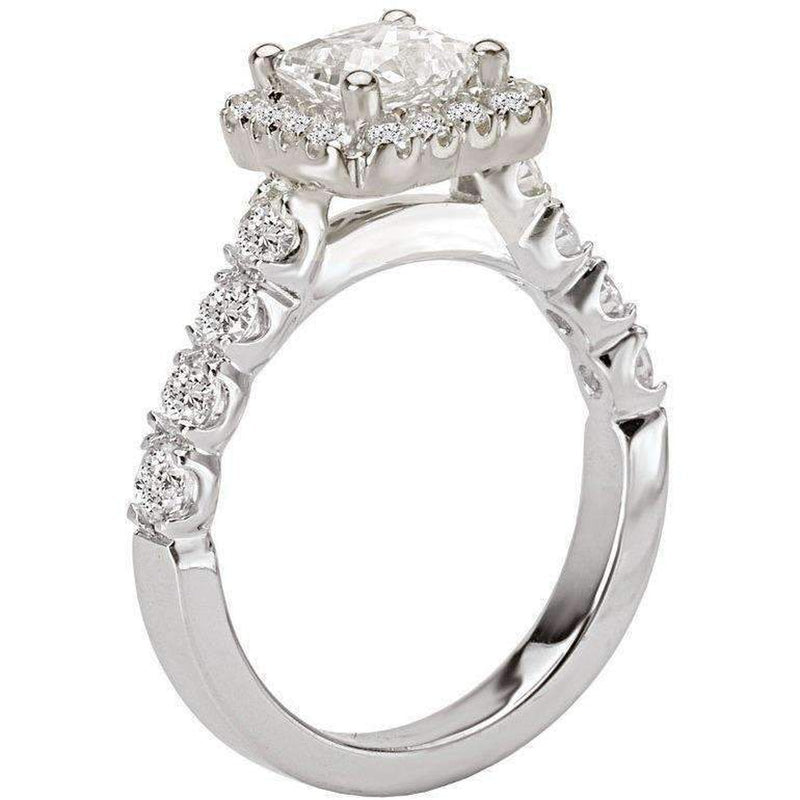 Romance Square Halo Semi-Mount Dia Ring 18k