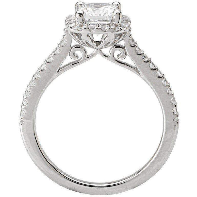 Romance Halo Semi-Mount Diamond Ring 18k