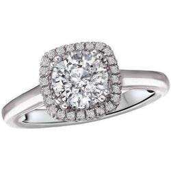 Romance Round Halo Semi-Mount Diamond Ring 18k