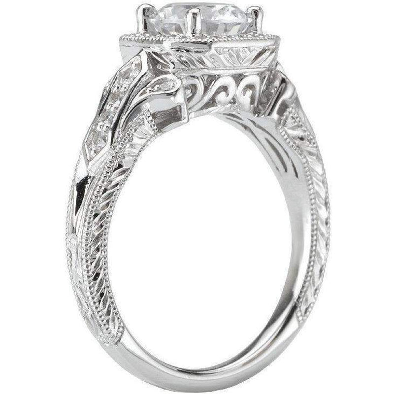 Romance Vintage Semi-Mount Dia Ring
