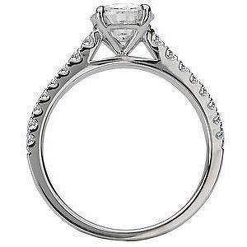 Cathedral Semi-Mount Diamond Engagement Ring