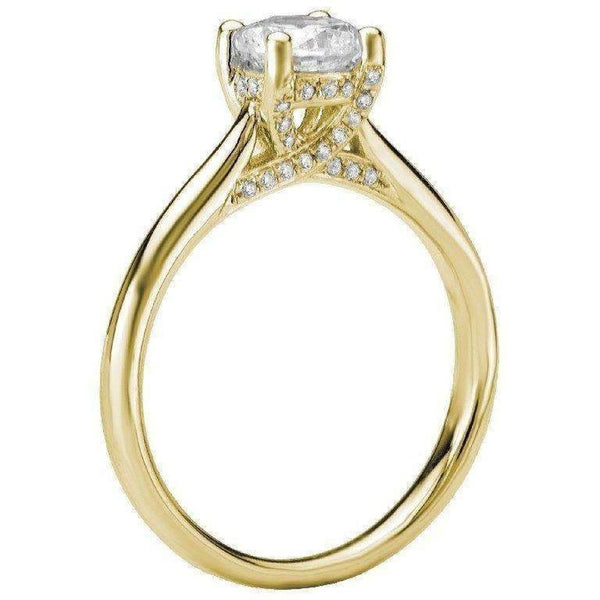 Romance Solitaire Semi-Mount Diamond Ring 18k