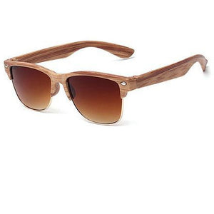 Wooden Brown & Gold Sunglasses