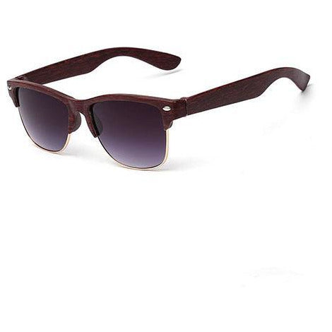 Wooden Dark & Gold Sunglasses