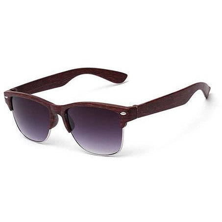 Wooden Dark & Silver Sunglasses