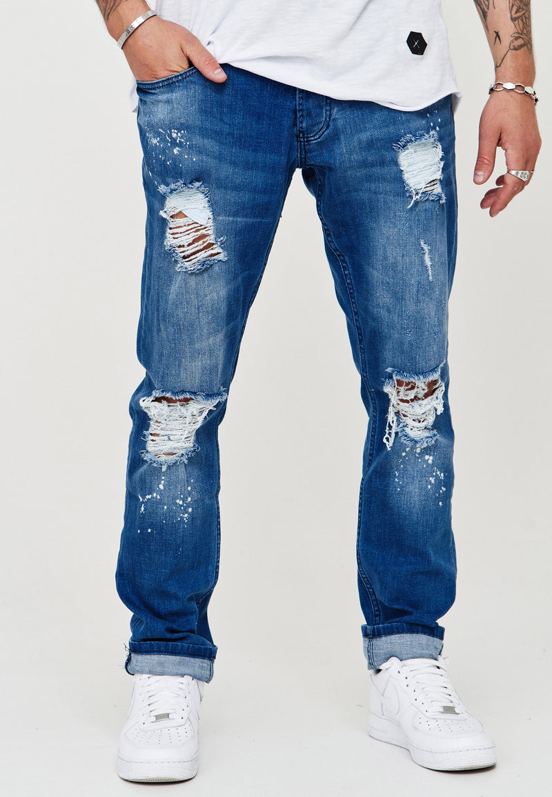 Destroyed Jeans Blau 3296