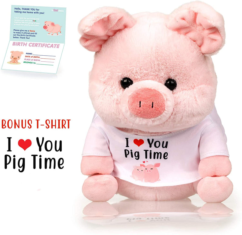 "Pig Stuffed Animal - The Original Pink ""I Love You Pig Time"" Large Pigs Plush Animals Toy"