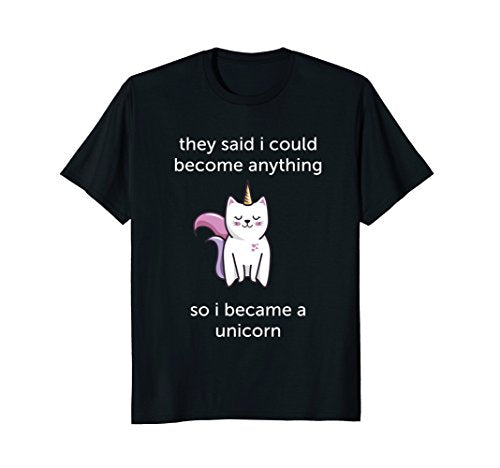 Cute Novelty Cat Unicorn Tshirt