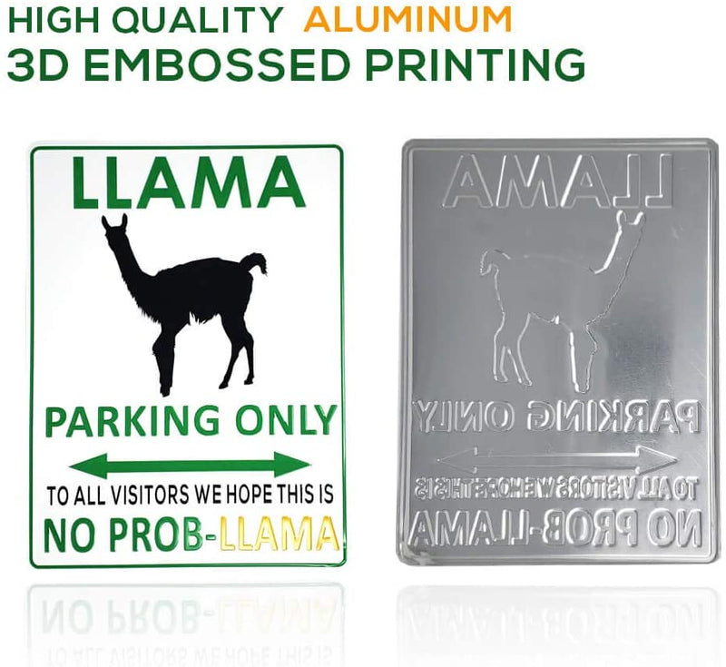 Llama Parking only Sign