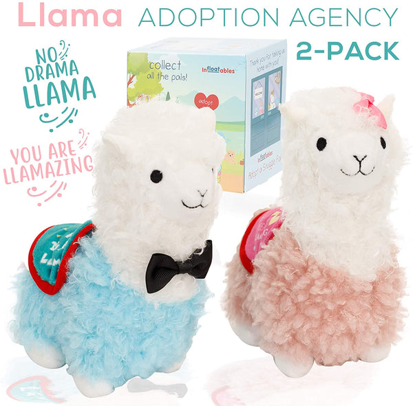 Llama Stuffed Animal - 2 New Cute Baby Lama Alpaca Plush Animals Toys
