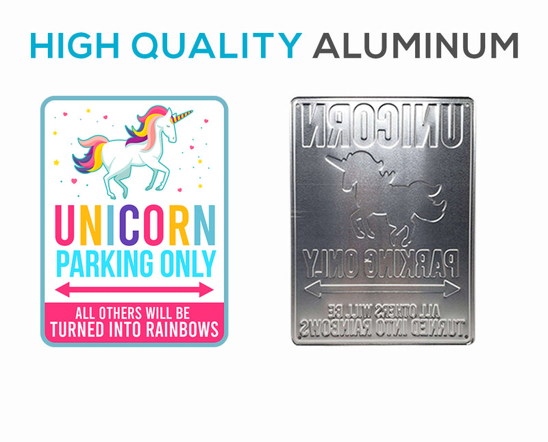 Unicorn Parking only Sign