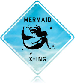 Mermaid X-ing Sign