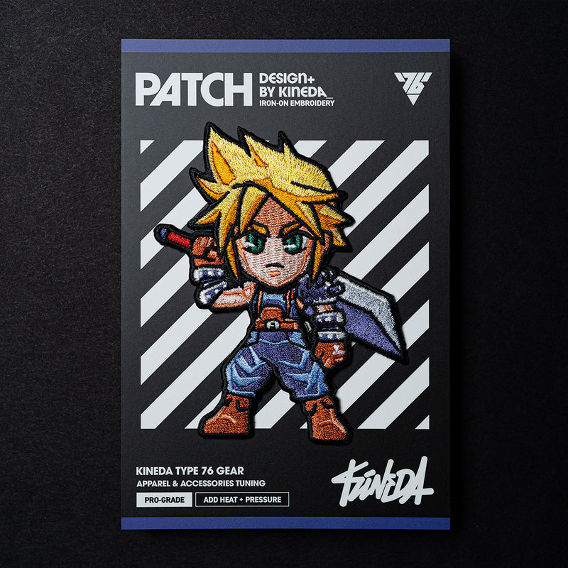 Cloud Strife Patch Iron-On Embroidery from Final Fantasy VII Remake