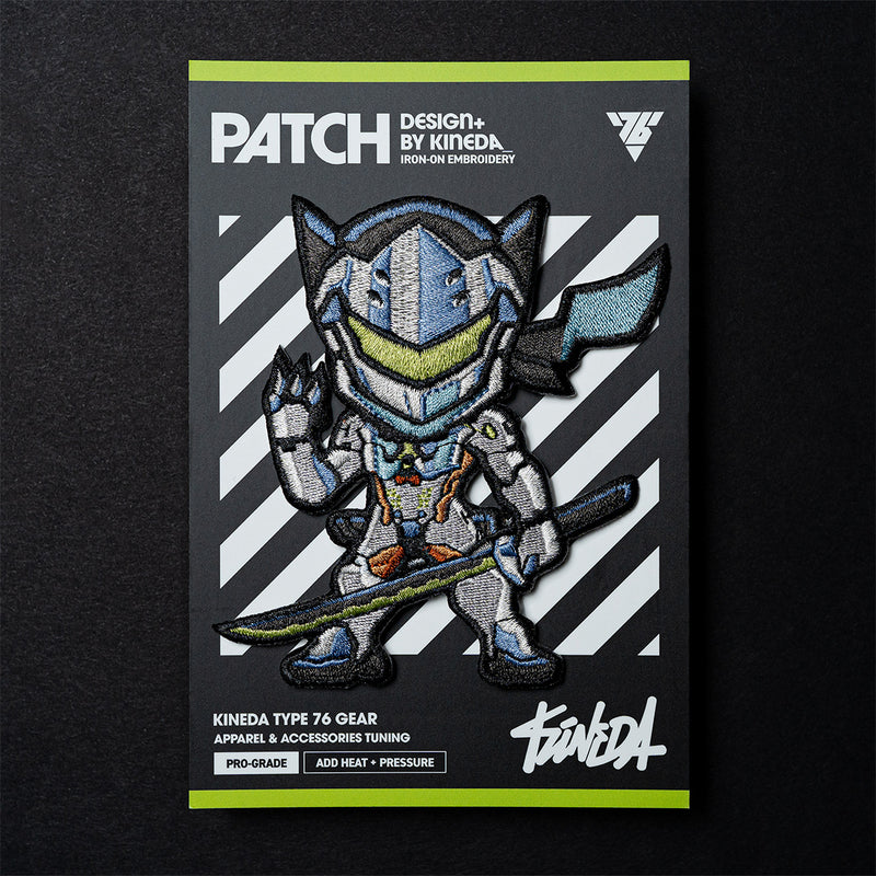 Genji Patch Iron-On Embroidery from Overwatch