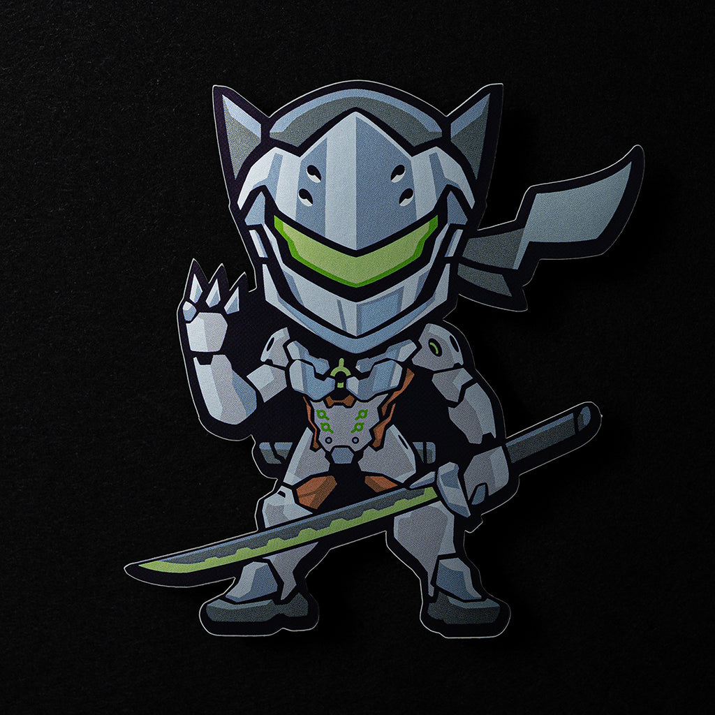 Genji Sticker in Matte Mirror Vinyl Finish