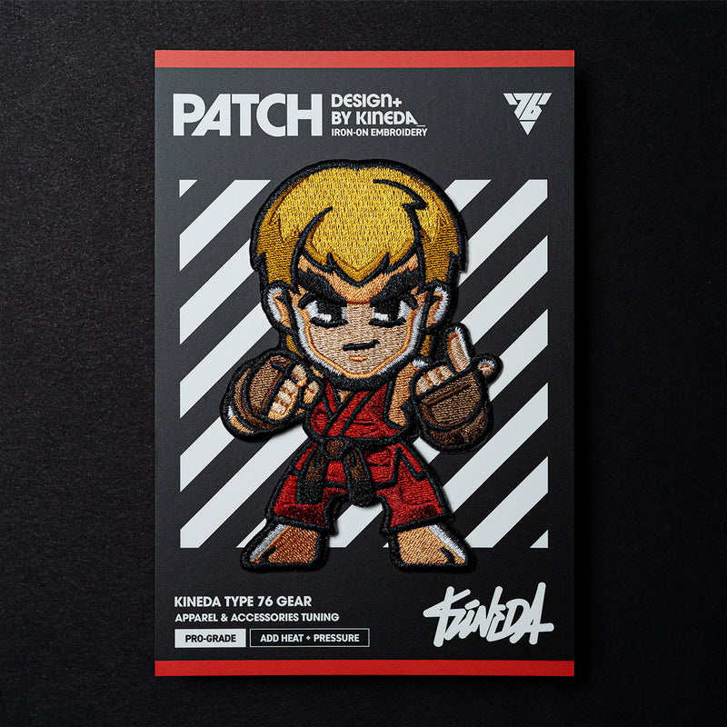 Ken Patch Iron-On Embroidery from Street Fighter