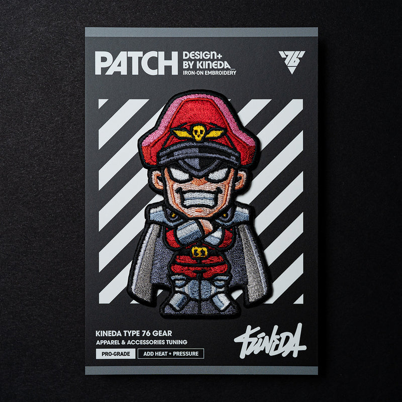 M. Bison Patch Iron-On Embroidery from Street Fighter