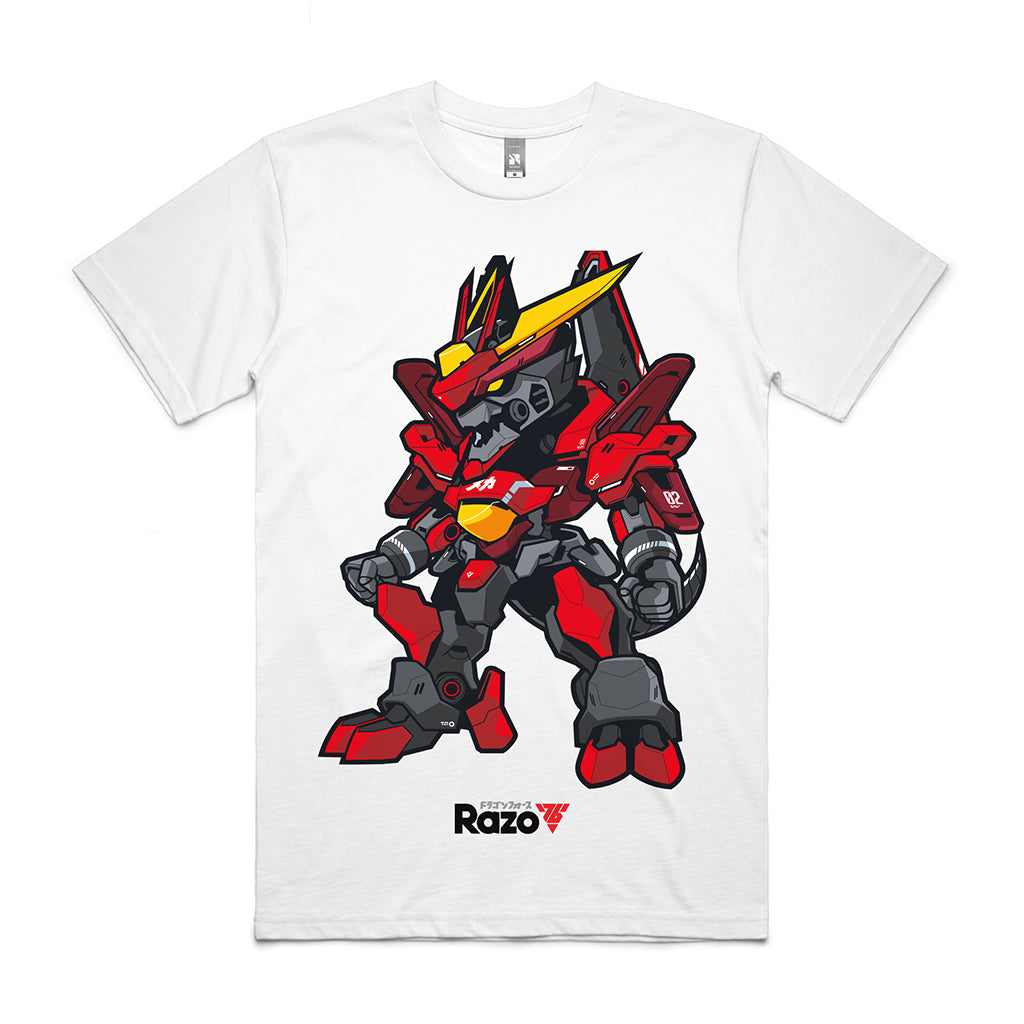 Meka Dragon - White Tee