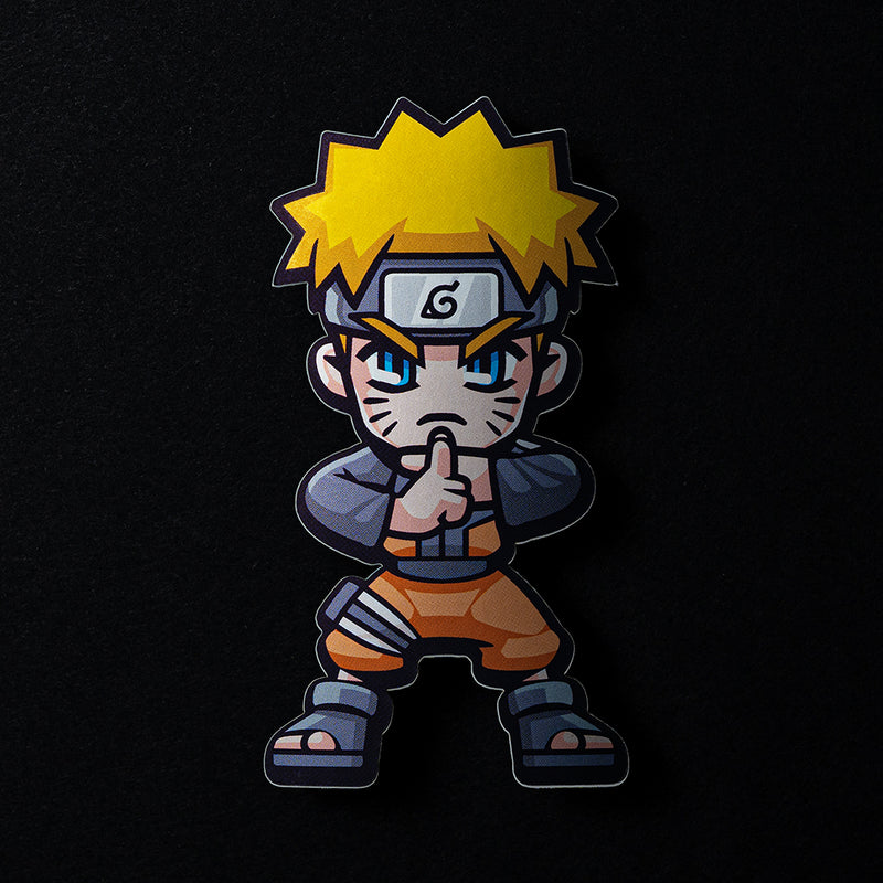 Naruto Sticker in Matte Mirror Vinyl Finish