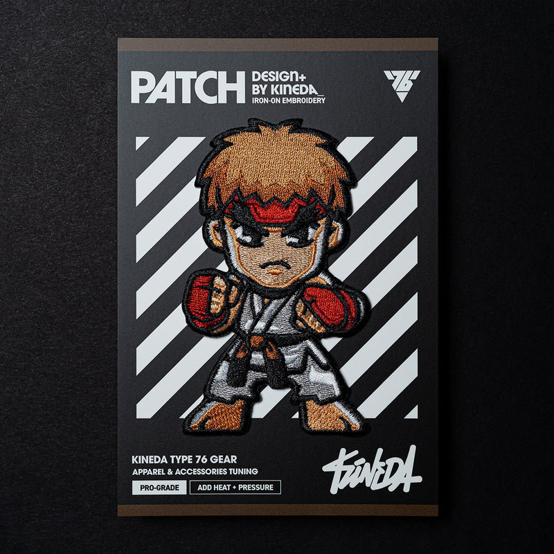 Ryu Patch Iron-On Embroidery from Street Fighter