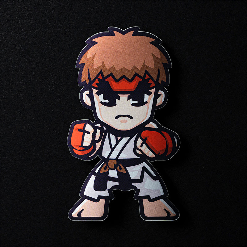 Ryu Street Fighter Sticker in Matte Mirror Vinyl Finish