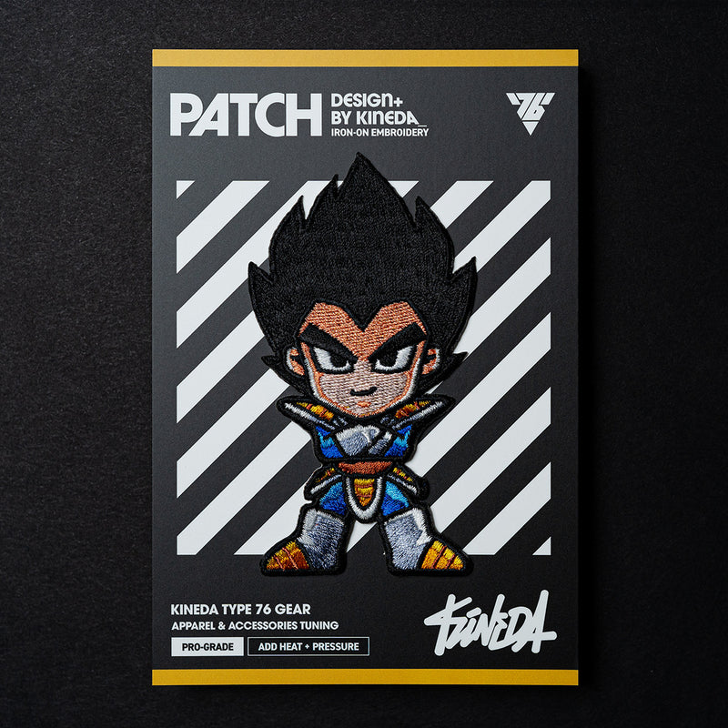 Vegeta Patch Iron-On Embroidery from Dragon Ball Z