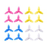40mm (1mm shaft) tri-blade light-weight propellers for brushless & 720 brushed tiny whoop