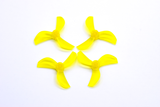 NewBeeDrone Azi (Tri Blade) Micro Props - 1.0mm Shaft (Set of 4)