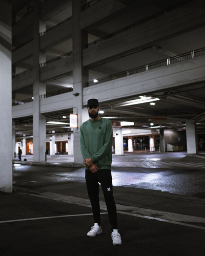 Jade Distressed Crew Neck