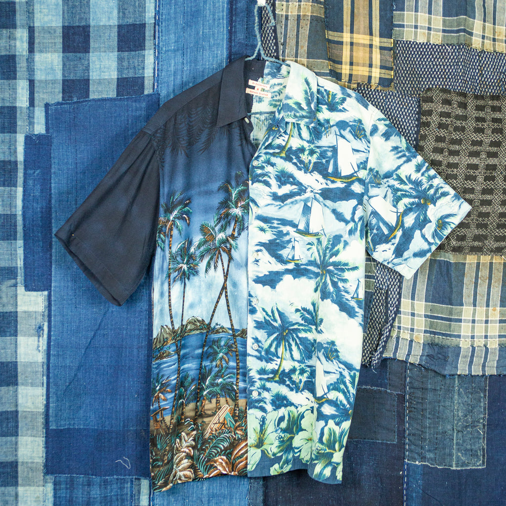 "Vintage Split Aloha Shirt ""High Tide"""