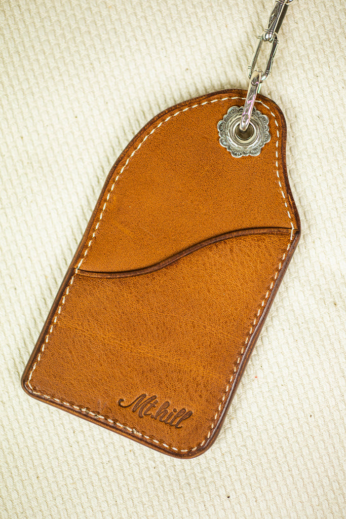 Mt. Hill Leather Keychain in Tan
