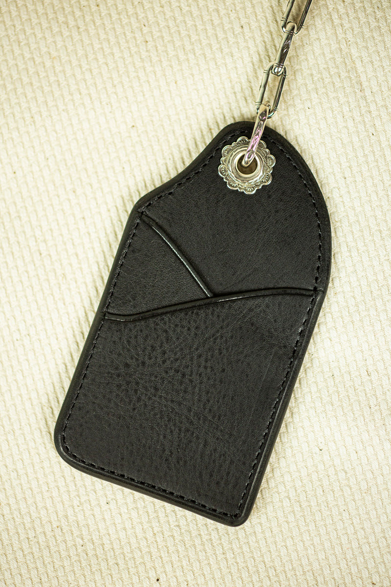 Mt. Hill Leather Keychain in Black