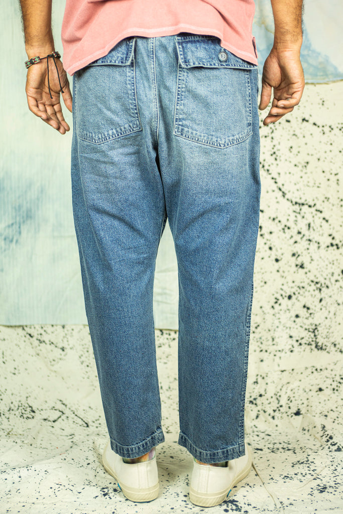 P17 Dropcrotch Pant in 1 Year Wash Denim